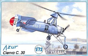 Cover from an Azur Frrom Cireva Autogiro Model Kit box