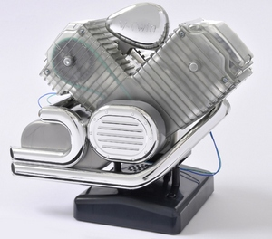 Completed Haynes V-Twin Motorcycle Engine Model